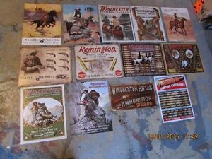 30 YEAR METAL SIGN COLLECTION,winchester ,marlin,colt