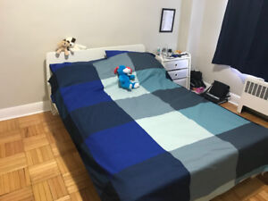 Bed frame + mattress (double size)