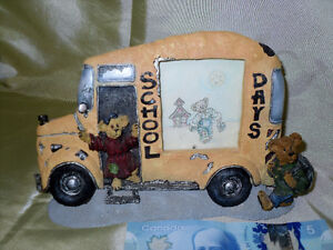 Boyds Bears SCHOOL BUS picture frame