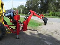 3 point hitch - Farm backhoe 12 inch bucket - uses tractor pto.