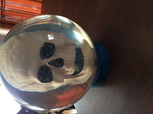 Clear skull bowling ball