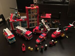 Fire Fighter and Batmobile Legos
