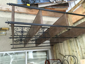 metal shelving,ladder.bench,closhing holder, for sale