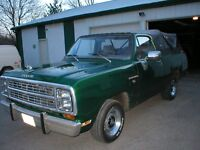 1979 DODGE RAMCHARGER- 2 WH DRIVE CONVERTIBLE