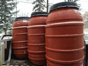 LOOK >> 90 x Food Grade Barrels in Jumbo Terra Cotta, $40 each Edmonton Edmonton Area image 1