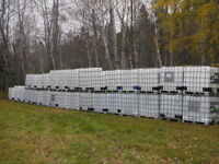 1000 litre plastic containers in cages for sale
