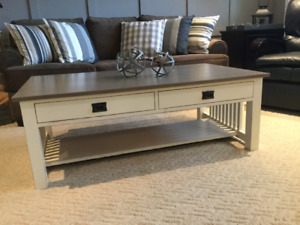 Solid oak mission style FARMHOUSE coffee table