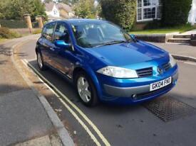 2004 Renault Megane 1.6 VVT 115 Dynamique 5 Door Hatchback Manual Blue 2 Keys