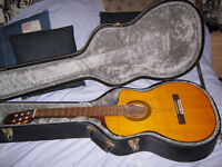 Takamine Classical Electric cutaway (side fret markers) + Case