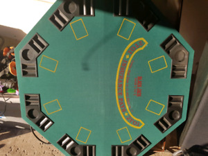 Fold open poker and blackjack table excellent shape $60