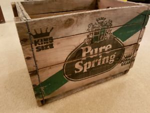 Vintage Pure Spring Crate