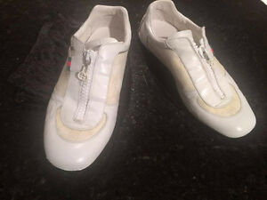 Gucci Monogram White sneakers Size 9 -100% Authentic