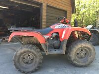 2005 Arctic Cat 650 vtwin with papers