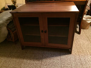 Solid Wood TV Stand $125/OBO