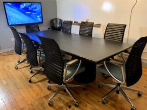 Boardroom - Conference Table and 8 Chairs
