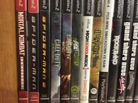 Slim PlayStation 2 with TONS of games.