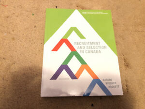 Textbook Recruitment and Selection in Canada Sixth Edition $75