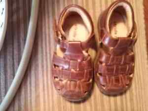 Stride rite size 5.5 leather sandals