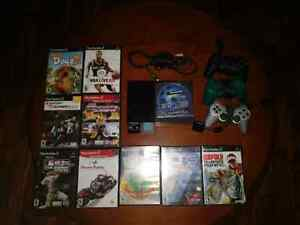 PS2 Slim + 3 Controllers + 10 Games + 24MB Storage