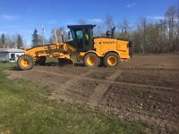 Skid steer and grader for rent