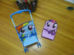 Toy stroller, chair and bag