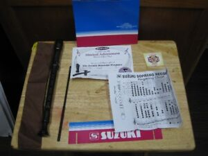 Suzuki soprano recorder #SRE 505 hard brown plastic price firm.