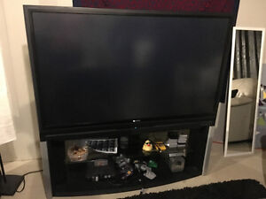 """60"""" Toshiba Rear Projection TV with stand"""