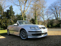 2006 56 Saab 9-3 2.0T CONVERTIBLE 210 BHP PETROL 6 SPEED FSH MINT CONDITION FSH