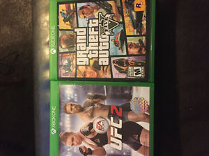Selling gta v and UFC 2 for Xbox 1 40$ each