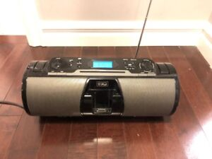 iLive IBCD3817DTBK Boombox Radio CD Player
