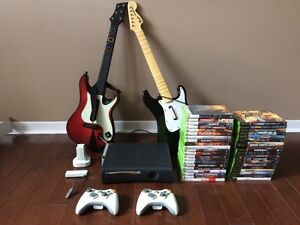 Xbox 360 Package Deal - Console, Controllers, Games & Acc.