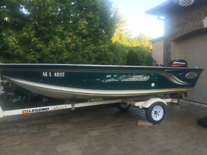 Legend fishing boat with trailer and motor