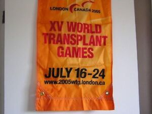 "Flag London 2005 XV world Transplant Games 17""x 37"""