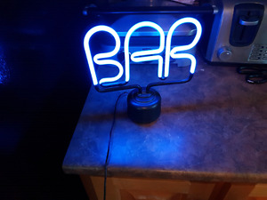 Neon BAR sign for at home bar