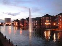 Modern fully furnished two bedroom apartment with parking, Liverpool city centre docks, City Quay