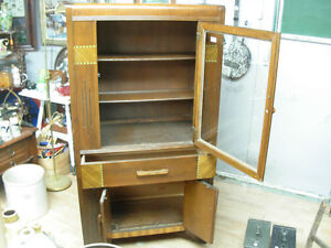 (REDUCED TO $185)Art Deco China Cabinet Cambridge Kitchener Area image 2