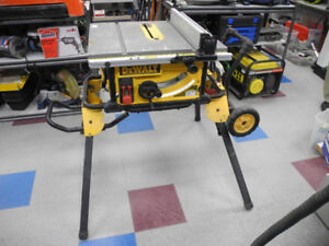 "Dewalt DWE7491 10"" Portable Table Saw w/ Rolling Stand"