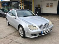 2004 54 Mercedes C220 Cdi Coupe, Diesel, Automatic, Panoramic Roof, Service History, Mot Sept 2017