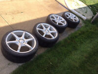 17 in eagle alloy rims with low profile tires, universal bolt