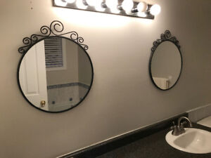 Mirror, dresser, and microwave for sale