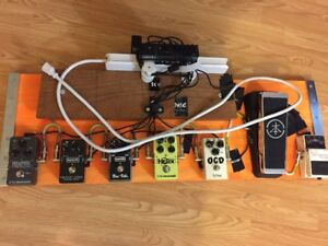 Pedal board and Pedals, plug in and play complete. $475