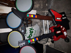 Xbox Drum and Guitar Kit