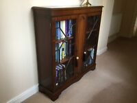 Reproduction Mahogany Glazed Bookcase