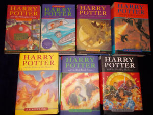 Complete set (1-7) Harry Potter--1st Canadian Editions