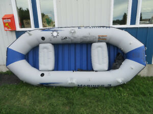 River rafts, tubes. Float the Pembina River, Entwistle, AB