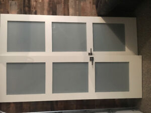 Two beautiful solid core white doors for sale