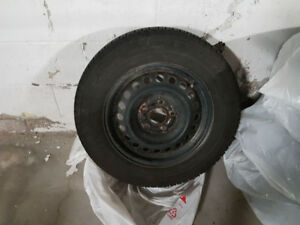 "15""195/65 R15 LIKE NEW Michelin XICE snow tires and rims..."
