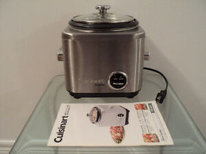 CUISINART RICE COOKER WITH INSTRUCTION & RECIPE BOOKLET-LIKE NEW