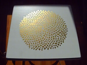Gold Flower Top Coffee Table / End Table / Nightstand