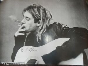"KURT COBAIN / NIRVANA LICENSED POSTER LARGE 24"" X 36"""